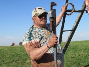 Dad working on the circle, summer 2014