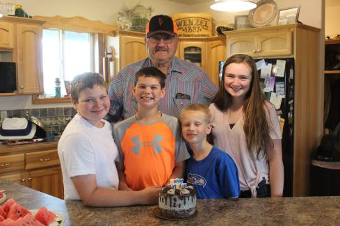 Dad and kids Sept 2019