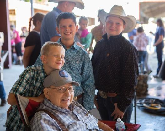 Grandpa Bill with the boys Aug 2019