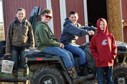 Kids doing chores Jan 2020
