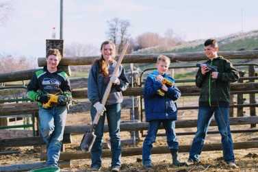 Kids and Corral April 2020