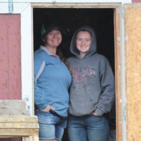 Ann and Kellie rain June 2020