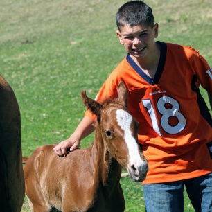 Kade with Lona colt June 2020-2