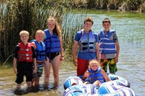 Kids at lake June 2020