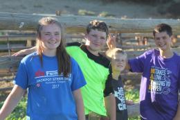Kids building vet pen July 2020-1