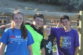 kids building vet pen July 2020