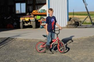 Jax on bike Aug 2020