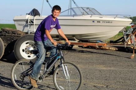 Kade on bike Aug 2020
